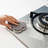 Губка для мытья посуды Облако Серая