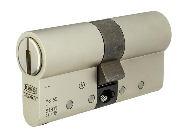Цилиндр KESO 8000 Ω2 60 (30x30) ключ-ключ никель  (Швейцария)
