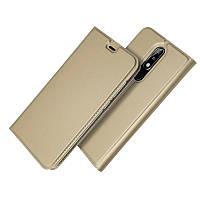 Чехол для Nokia 3.1 Plus / TA-1104 книжка с магнитом золотой