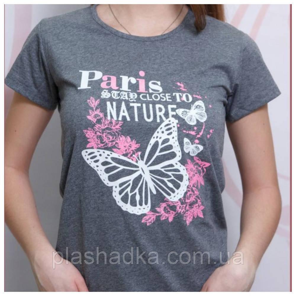 Хлопковая футболка с изображение бабочек, Турция