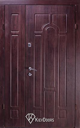 Полуторные  входные двери Арка винорит на улицу, фото 2