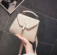 Бежевая мини сумочка на длинном ремешке опт, фото 1