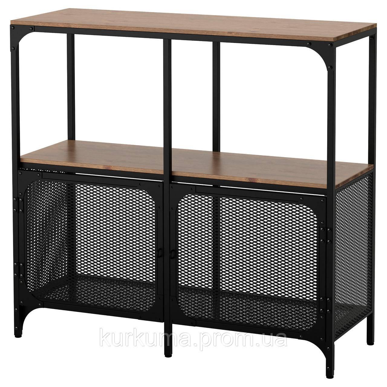 IKEA FJALLBO Стелаж, чорний (503.392.92)