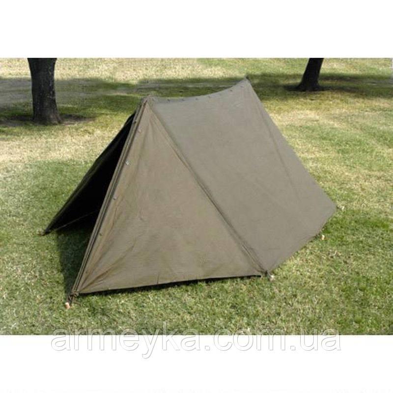Палатка двухместная, брезентовая (без колышек). ВС Голландии, оригинал