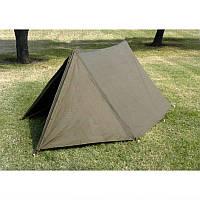 Палатка двухместная, брезентовая (без колышек). ВС Голландии, оригинал, фото 1