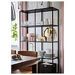 IKEA VITTSJO Стелаж, чорно-коричневий, скло (202.133.12), фото 2