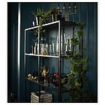IKEA VITTSJO Стелаж, чорно-коричневий, скло (202.133.12), фото 4
