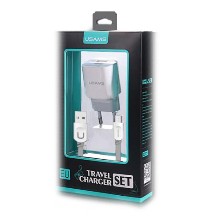 "Сетевое зарядное устройство "" Usams J-TU"" Micro 2 USB Port 2.4A"