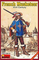 1:16 Фигурка французского мушкетера, MiniArt 16009;[UA]:1:16 Фигурка французского мушкетера, MiniArt 16009