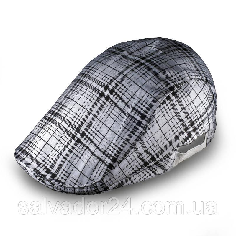 Плоская классическая мужская кепка белая