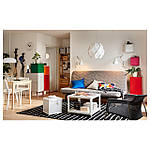 IKEA LIXHULT Шкаф, серый темно-зеленый, красный/оранжевый  (092.489.16), фото 3