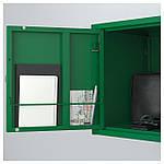 IKEA LIXHULT Шкаф, серый темно-зеленый, красный/оранжевый  (092.489.16), фото 5