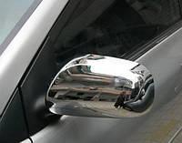 Накладки на зеркала для Toyota Auris, Тойота Аурис, 2007-2009 г.в.