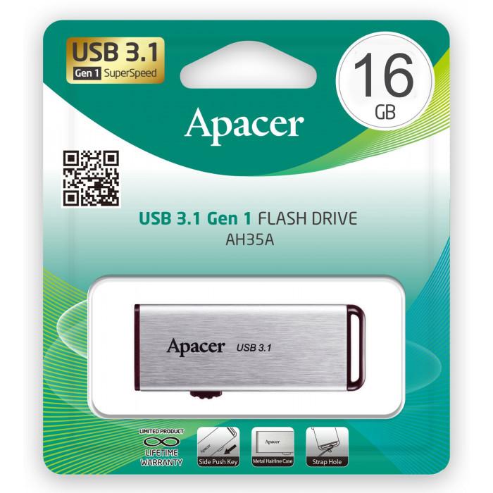 USB флеш Apacer AH 35A 16GB USB 3.1