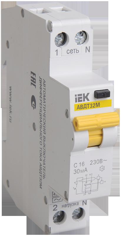 Автоматический выключатель дифф. тока АВДТ32М С10 30мА (MAD32-5-010-C-30) IEK