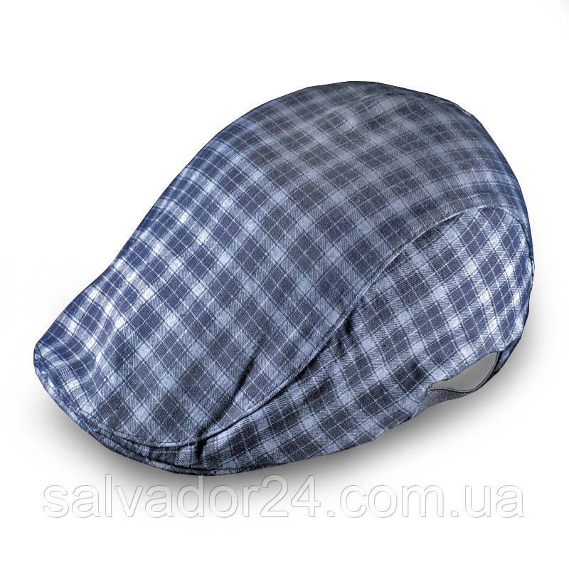 Плоская классическая мужская кепка серая