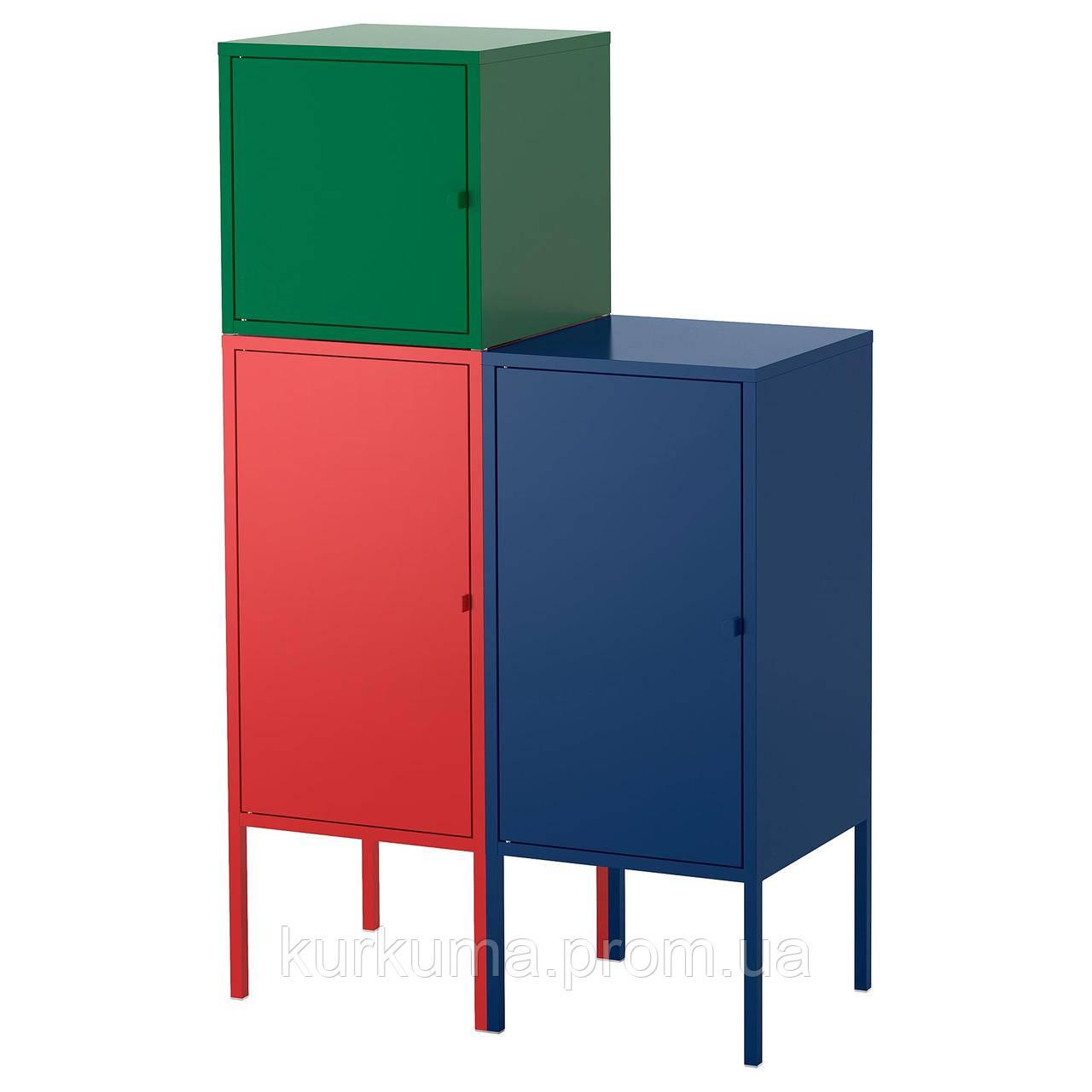 IKEA LIXHULT Шкаф, красный военно-морской флот, темно-зеленый  (292.486.80)