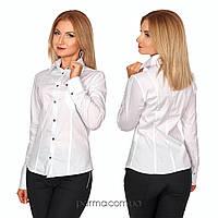 b40be5e169f Белая женская рубашка с длинным рукавом (р.42) коттон