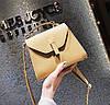 Мини сумочка золотистая из экокожи опт