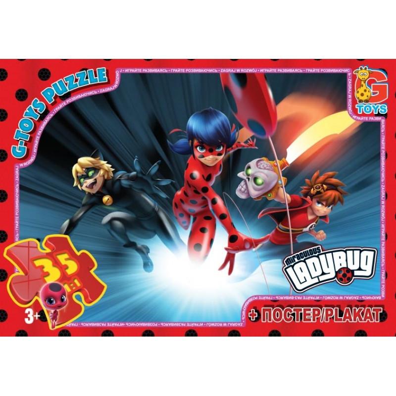 """Пазли ТМ """"G-Toys"""" LB1001 із серії """"Леді Баг"""", 35 елементів"""