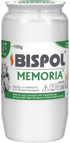Вкладыш белый масляный Bispol 2 дня 4,8 х 9,5 см (WO2-090)