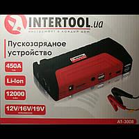 Пускозарядное устройство 12000 mАч. INTERTOOL AT-3008