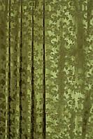 Ткань для Штор из атласа  орлеан  оливка, фото 1