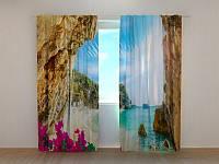 Фото шторы Грот 250 х 260 см природа фото штори шторы с рисунком