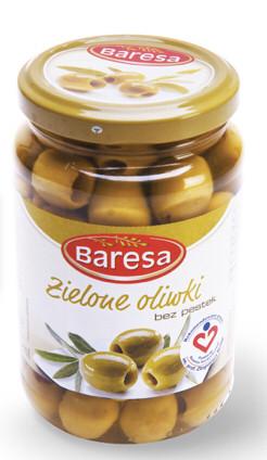 Оливки Baresa зеленые без косточки 170г