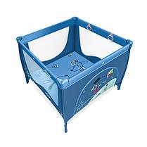 Манеж Baby Design Play Up 03 blue (с кольцами) 2018