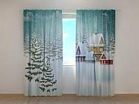 Фото шторы Зимушка, 250 х 260 см зима природа новогодние фото штори шторы с рисунком