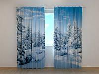 Фото шторы Снежная благодать 250 х 260 см зима природа фото штори новогодние шторы с рисунком