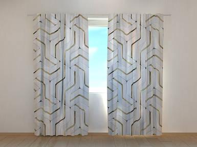 Фотошторы Головоломка 250 х 260 см абстракция фото штори шторы с рисунком