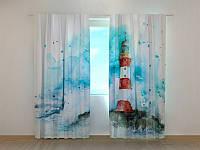 Фотошторы Маяк 250 х 260 см фото штори с рисунком шторы в детскую