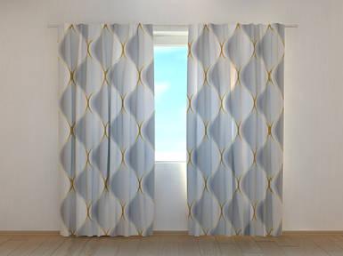 Фотошторы Соты 250 х 260 см абстракция фото штори шторы с рисунком