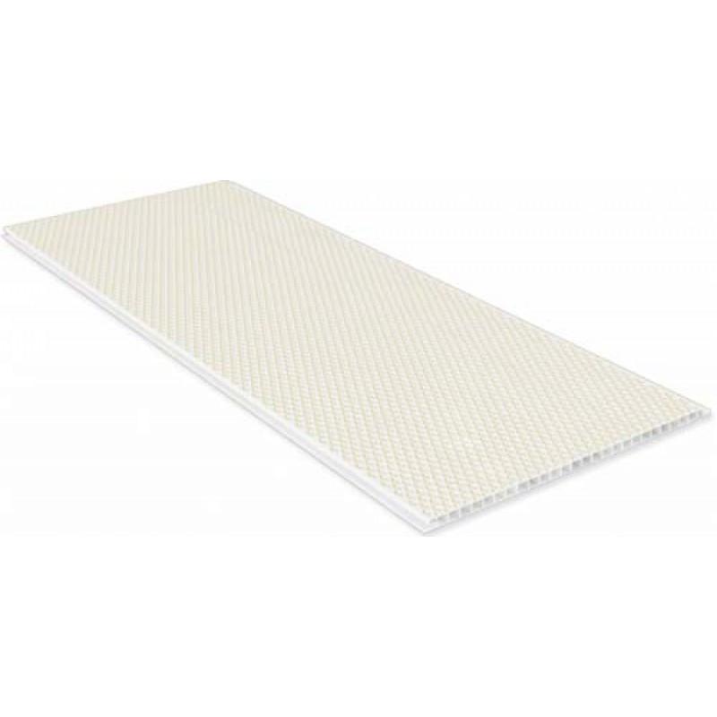 Пластиковая панель, 6250 Ромб, лак/матовый лак, бежевый