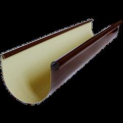 Желоб водосточной системы Alta-Profil (Альта-Профиль), ПВХ, 3 м, 125/95 мм., коричневый