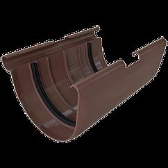Муфта желоба водосточной системы Alta-Profil (Альта-Профиль), ПВХ, коричневый