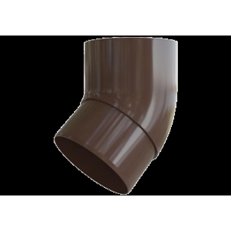 Колено трубы 45° водосточной системы Alta-Profil (Альта-Профиль), ПВХ, коричневый