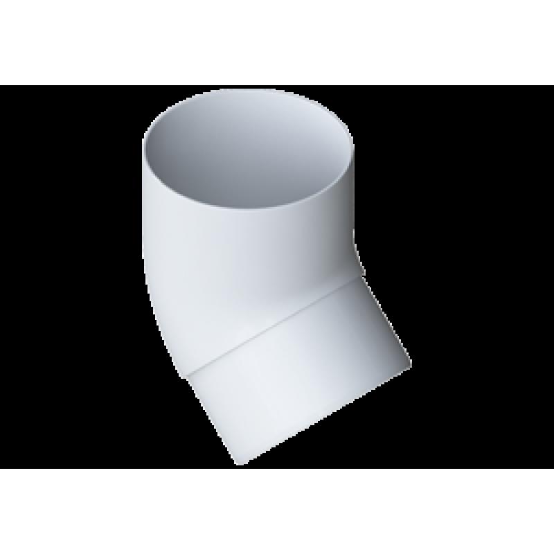 Колено трубы 45° водосточной системы Alta-Profil (Альта-Профиль), ПВХ, белый