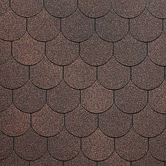 Битумная черепица Кольчуга, серия SIMPLE, коричневый
