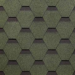 Битумная черепица Сота, серия SIMPLE, зелёный