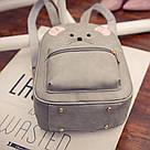Набор рюкзак с ушками Мышка с кошельком Topshine серый (466), фото 3