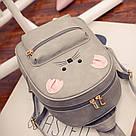 Набор рюкзак с ушками Мышка с кошельком Topshine серый (466), фото 4