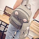 Набор рюкзак с ушками Мышка с кошельком Topshine серый (466), фото 6