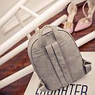 Набор рюкзак с ушками Мышка с кошельком Topshine серый (466), фото 7