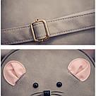 Набор рюкзак с ушками Мышка с кошельком Topshine серый (466), фото 8