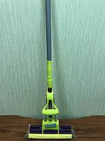 Швабра для влажной уборки с губкой-валиком