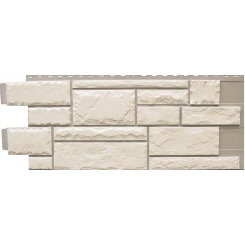Сайдинг фасадный Novik (Новик), Тесаный камень White blend