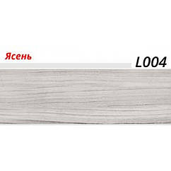 Плинтус LinePlast (ЛайнПласт) с мягким краем, матовый, L004 Ясень